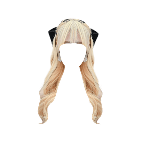 blonde hair png bangs bow