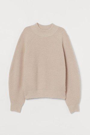 Rib-knit Sweater - Powder beige - | H&M CA