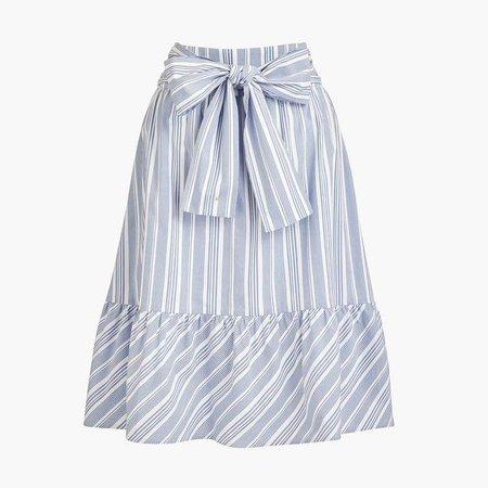 Big bow midi skirt