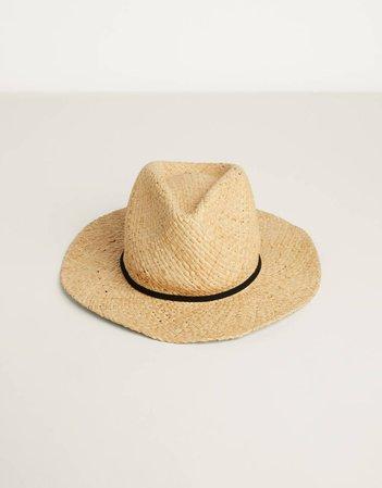Raffia hat - New - Bershka United States beige