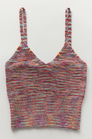 UO Abigail Knit Cropped Tank Top | Urban Outfitters