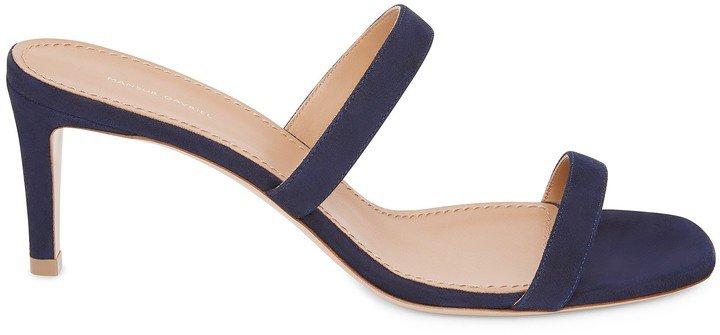 Suede Fino Sandal - Black