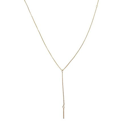 HONEYCAT Classic Lariat Drop Bar Necklace in 24k Gold Plate, 18k Rose Gold Plate, or Silver | Minimalist, Delicate Jewelry