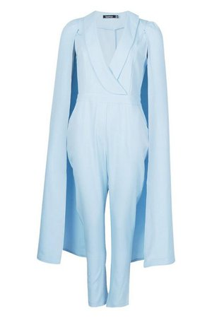 Cape Woven Tailored Jumpsuit | Boohoo