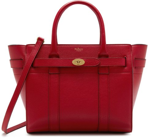 Small Zipped Bayswater Leather Tote