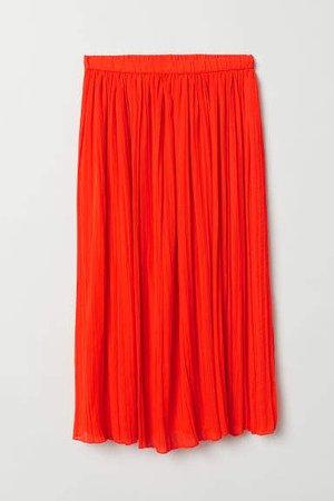 Pleated Skirt - Orange
