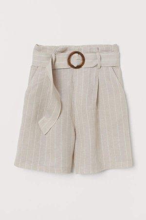 Lyocell-blend Shorts - Beige