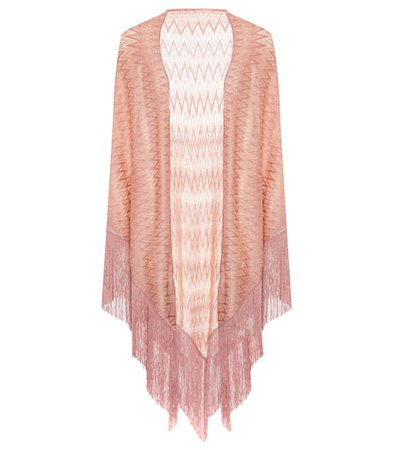 Fringed metallic cape
