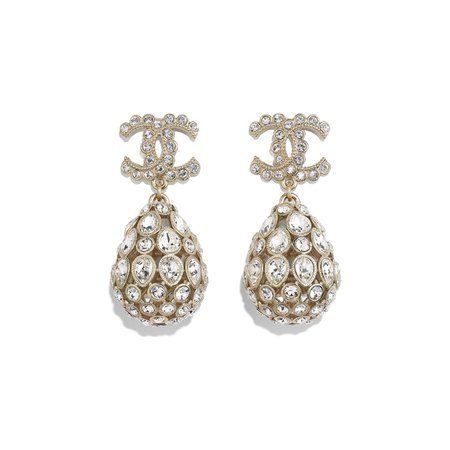 Clip-On Earrings Metal & Diamantés | CHANEL