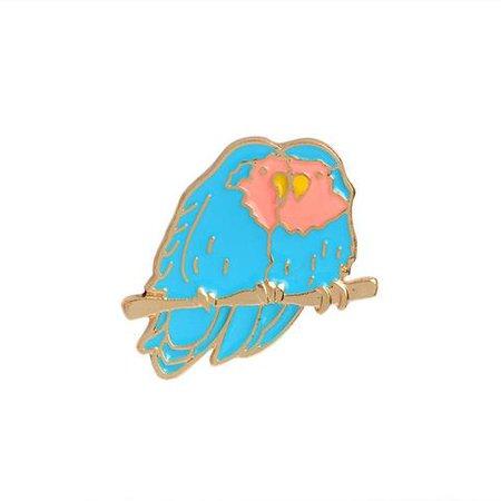 Love Birds Pin by Peachy Pins
