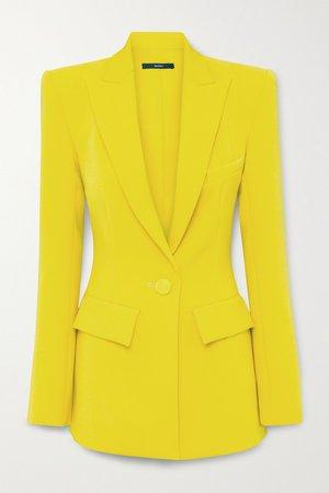Yellow Alex crepe blazer   ALEX PERRY   NET-A-PORTER