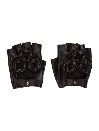 Chanel Camellia Fingerless Gloves - Accessories - CHA306223 | The RealReal