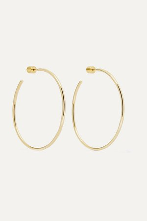"Jennifer Fisher   2"" Thread gold-plated hoop earrings   NET-A-PORTER.COM"