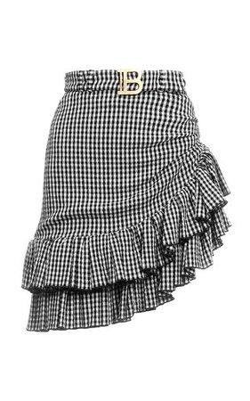 Woven Leather Mini Skirt by Bottega Veneta   Moda Operandi