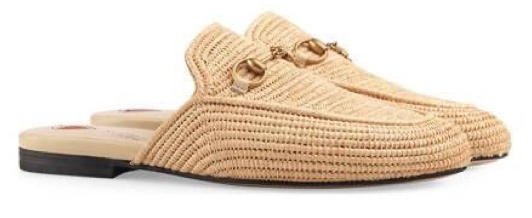 Gucci Men's Straw Pricetown Slippers