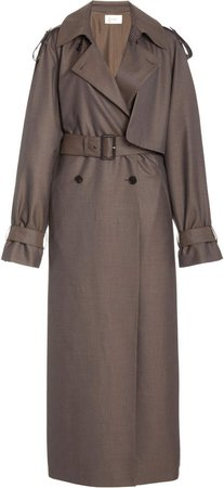 The Row Yeli Double Breasted Wool Trench Coat