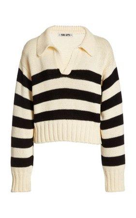 Venezia Striped Cotton Sweater By Ciao Lucia   Moda Operandi