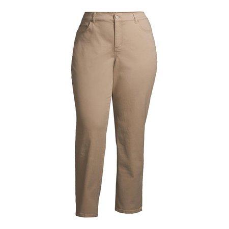 Terra & Sky - Terra & Sky Women's Plus Size Straight Leg Jeans - Walmart.com - Walmart.com cream