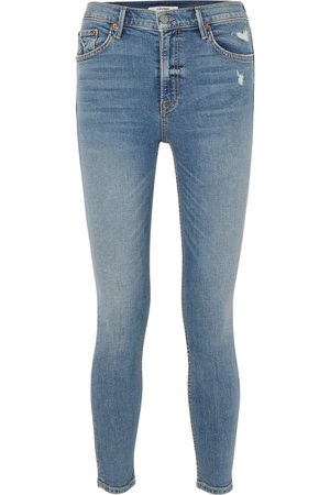 GRLFRND | Kendall distressed high-rise skinny jeans | NET-A-PORTER.COM