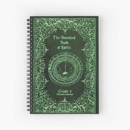 """""""The Standard Book of Spells"""" Spiral Notebook by MissFright 