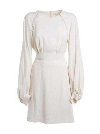 CHLOÉ Chloé Long Sleeved Dress white