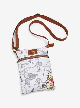 Loungefly Disney Winnie The Pooh Hundred Acre Wood Crossbody Bag