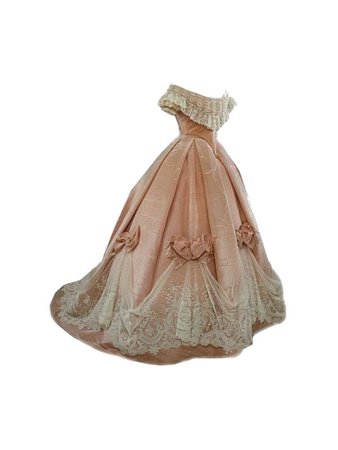Old distressed ball gown
