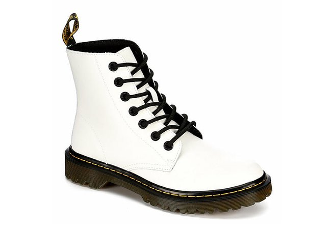White Dr. Martens Luana Women's Combat Boots | Rack Room Shoes