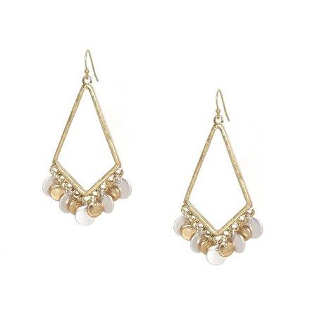 Earrings | Shop Women's Gold Fringe Earring at Fashiontage | 0064E-2