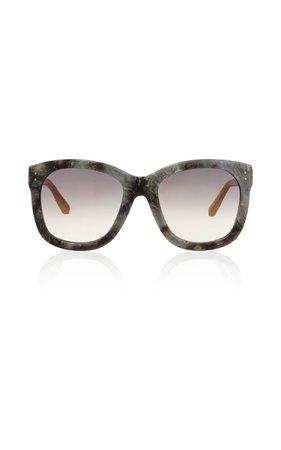 Linda Farrow Grey Marble Sunglasses