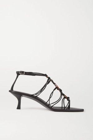 Black Ziba embellished leather sandals | Cult Gaia | NET-A-PORTER