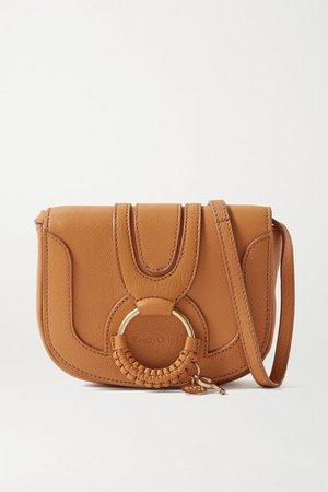 Hana Mini Textured-leather Shoulder Bag - Tan