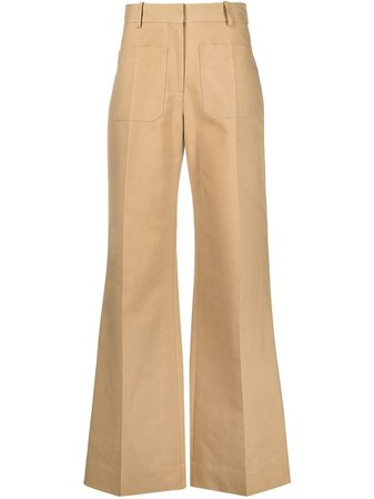 Victoria Beckham high-waisted Flared Trousers - Farfetch