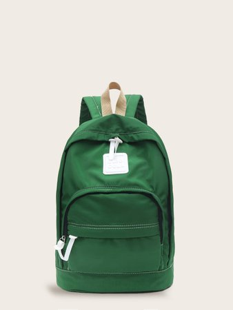 Pocket Front Oxford Backpack | ROMWE