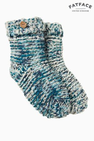 Buy FatFace Blue Multi Knit Bed Socks from the Next UK online shop