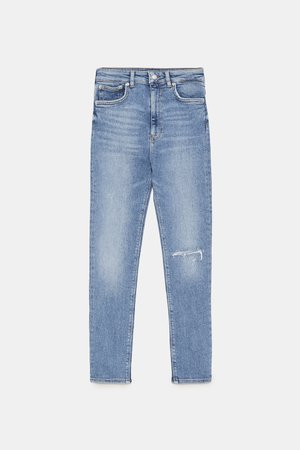 VENICE BLUE ZW PREMIUM '80S HIGH WAIST JEANS - NEW IN-WOMAN | ZARA United States