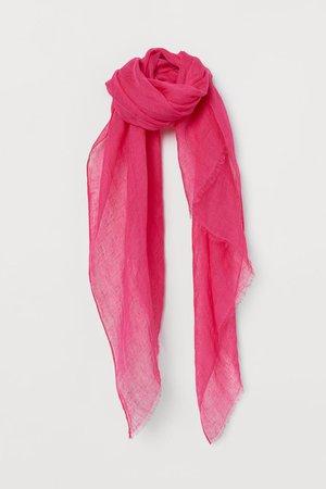 Sciarpa in lino - Magenta - DONNA   H&M IT