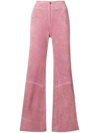 Shop pink Victoria Beckham panelled flare trousers with Express Delivery - Farfetch
