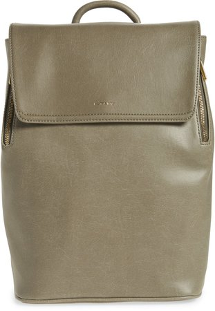 'Fabi' Faux Leather Laptop Backpack