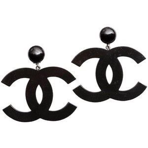 Black Chanel Earrings