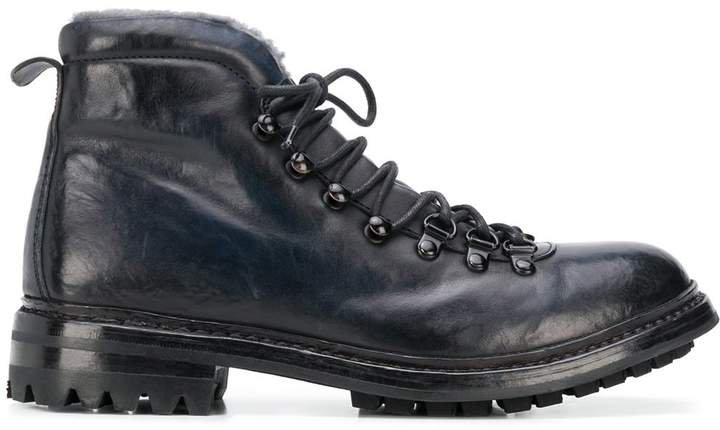 Alix contrast texture ankle boots