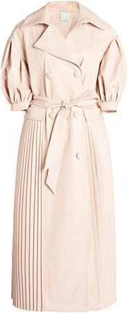 Huishan Zhang Gaia Pleated Gabardine Trench Coat
