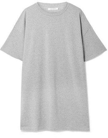 Ninety Percent - Olive Oversized Organic Cotton-jersey Mini Dress - Light gray