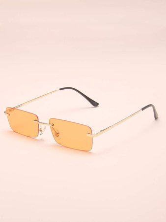 Rimless Tinted Lens Sunglasses | SHEIN USA