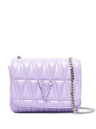 Shop purple Versace quilted cross body bag with Express Delivery - Farfetch