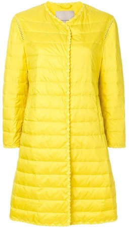 scalloped padded jacket