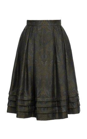Orient Paisley A-Line Midi Skirt by Lena Hoschek | Moda Operandi