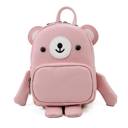Pink bear backpack