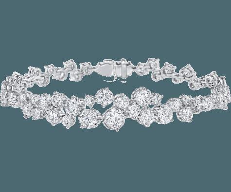 Sparkling Cluster by Harry Winston, Diamond Necklace   Harry Winston