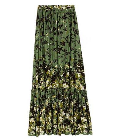 Alisahne Olive Printed Mimosa Ruffled Skirt < Alisahne List | aesthet.com
